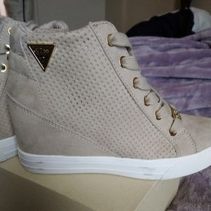 Guess High Top Sneaker with heel